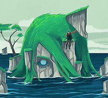 The wanderer and the ancient island by Reno Nogaj