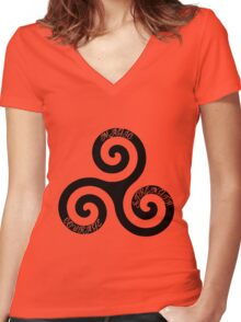 Strength Courage and Magic Women's Fitted V-Neck T-Shirt