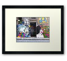 Unicorn and Brains Framed Print