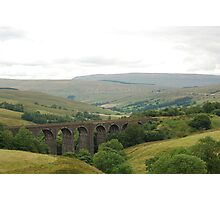 Settle-Carlisle Railway - Dent railway viaduct Photographic Print