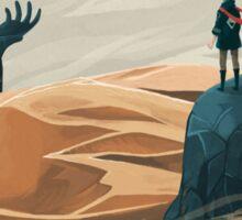 The wanderer and the desert portals Sticker