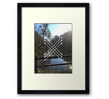 LAKES AND ARROWS Framed Print