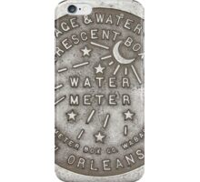 Crescent City Water Meter Cover iPhone Case/Skin