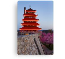The Pagoda in Spring Canvas Print