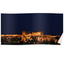 Lights of Acropolis - Athens, Greece Poster