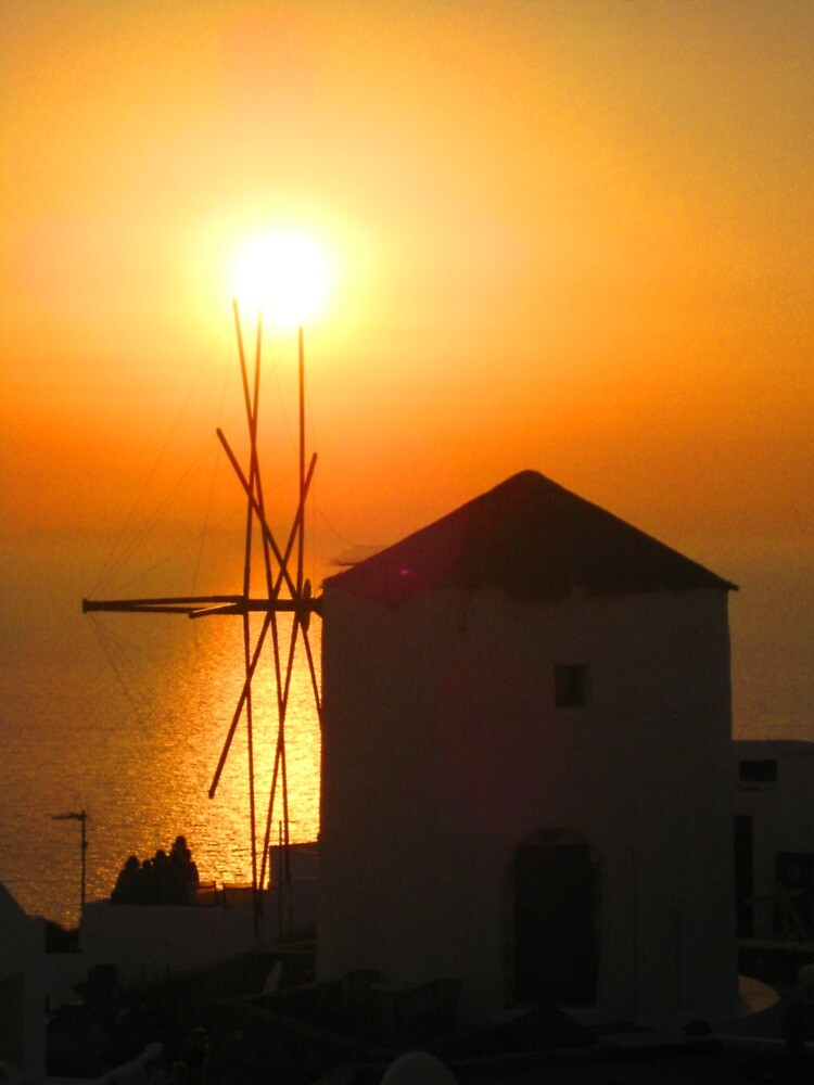 Oia Sunset - Santorini, Greece by David McGilchrist
