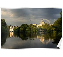 London - Illuminated and Reflected Poster