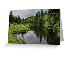 Forest Lake - Charlevoix, Quebec, Canada Greeting Card