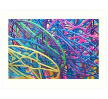 Colourful bubble wands Art Print