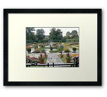 Walled Garden at Kensington Palace London England Framed Print