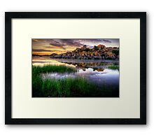 Willow Rock Sunset Framed Print