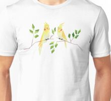 Low poly watercolor - cockatiels Unisex T-Shirt