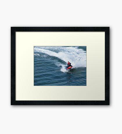 Jet Skier 33 Framed Print