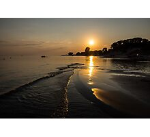 Golden Sands and Gentle Waves - Lake Erie, Ontario, Canada Photographic Print