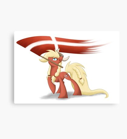 Danish Bronies with flag Canvas Print