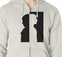 Two Sides (B) Zipped Hoodie