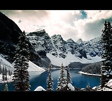 Moraine Lake, Valley of the Ten Peaks, Banff National Park, Canada (Bordered) by Chad Kruger