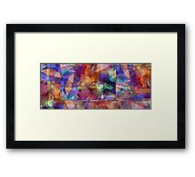 Abstract Composition With Ghosted Butterflies – April 11, 2010 Framed Print