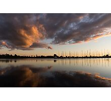 Reflecting on Boats and Clouds III Photographic Print