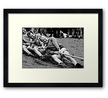 digging in, Irish national tug of war championship, New Ross County Wexford, Ireland Framed Print