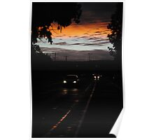 sunset on the street Poster