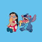 Lilo and Stitch eating by LikeYou