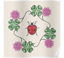 LadyBug Clovers - Classic Poster