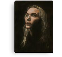 """""""Kate"""" Portrait in Oils Canvas Print"""