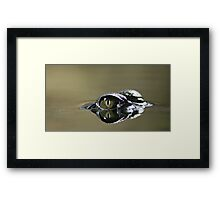 on the surface... Framed Print