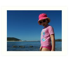 Beach Babe - Fingal Bay NSW Art Print