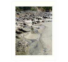 Water trail - Fingal Bay NSW Art Print