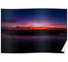 Wetland at Sunset Poster