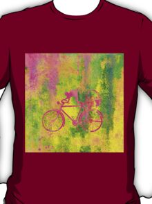 Cat and Bicycle Colours T-Shirt