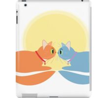 Two Cats And The Moon iPad Case/Skin