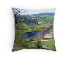 Bolton Abbey fron High Throw Pillow
