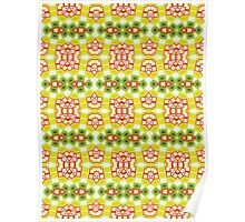 Red, Yellow and Green Abstract Design Pattern Poster