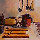 Tea and Toast - Artists Kitchen by scallyart