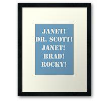 Great Scott! (white) Framed Print