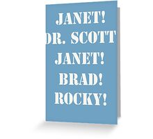 Great Scott! (white) Greeting Card