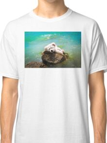 On The Rocks - Teddy Bear Art By William Patrick And Sharon Cummings Classic T-Shirt