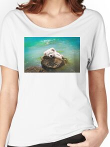 On The Rocks - Teddy Bear Art By William Patrick And Sharon Cummings Women's Relaxed Fit T-Shirt