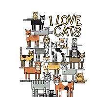 I Love Cats by Lisann
