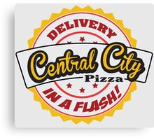 Central City Pizza - Delivery in a Flash! Canvas Print