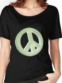 Voxelated Peace Women's Relaxed Fit T-Shirt