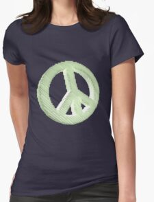 Voxelated Peace Womens Fitted T-Shirt
