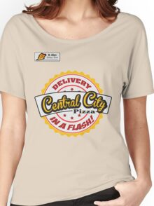 Central City Pizza - Delivery in a Flash! Women's Relaxed Fit T-Shirt