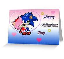 Sonic & Amy Valentines  Greeting Card