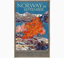 Norway in September Vintage Poster Restored Unisex T-Shirt