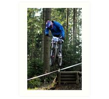 Mountain biking trials Art Print