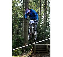 Mountain biking trials Photographic Print
